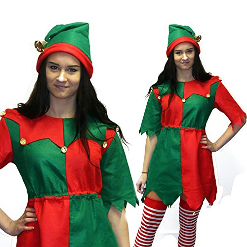 Womens Christmas Toyshop Elf Costume Costume