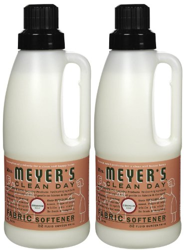 Mrs. Meyer's Clean Day Fabric Softener - Geranium - 32 oz - 2 pk