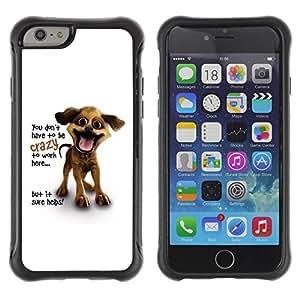 Suave TPU GEL Carcasa Funda Silicona Blando Estuche Caso de protección (para) Apple Iphone 6 / CECELL Phone case / / You Don'T Have To Be Crazy /