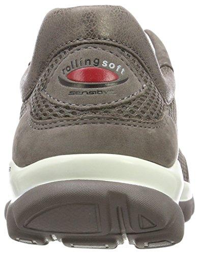 Derby Rollingsoft Cordones Fumo de Gabor Mujer Argento para Shoes Zapatos Marrón XxaqwH7