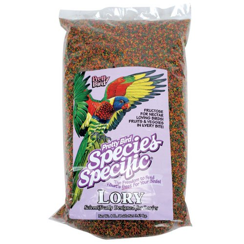 Pretty Bird International BPB78315 8-Pound Species Specific Special Lory Food with Fructose for Bird - Lory Diet Nectar