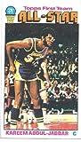 KAREEM ABDUL-JABBAR 1976-77 Topps All-Star AS #126 Card Los Angeles Lakers Basketball