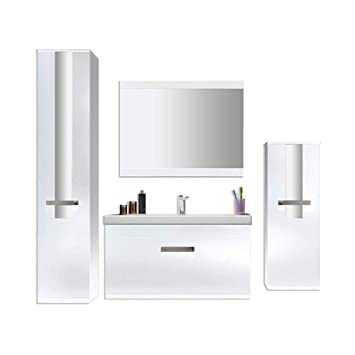 Home Deluxe Badmöbel Set Juist Weiß Inkl Waschbecken Und