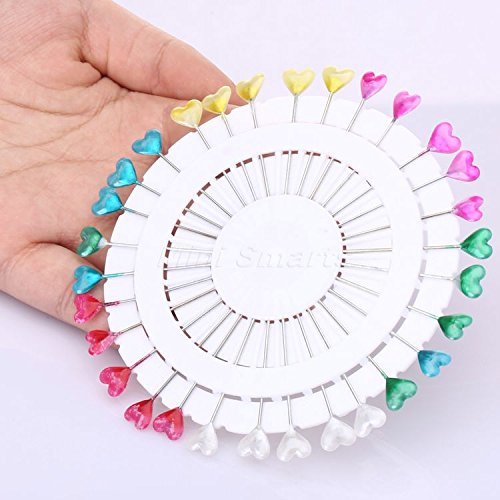 Pearl Pinwheel - Cacys Store - 30PCS Cute 11.5cm Mixed Colors Heart Head Pins Pinwheel Round Pearl Head Pins Decorative Sewing Tailoring Dressmaking Pin