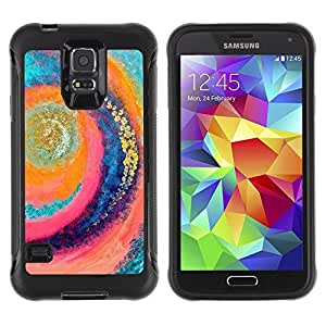 Paccase / Suave TPU GEL Caso Carcasa de Protección Funda para - Surf Wave Summer Vortex Teal Pink - Samsung Galaxy S5 SM-G900