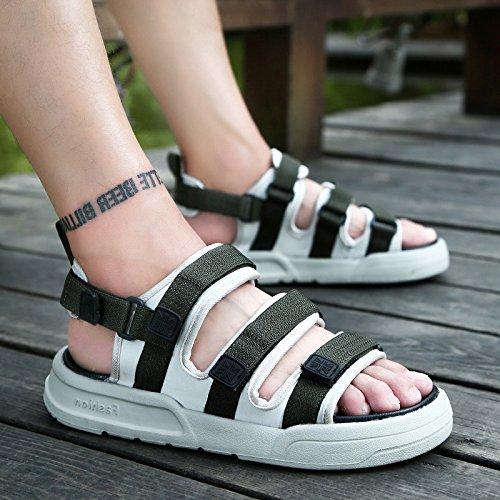 fankou Verano Antideslizante Zapatillas Zapatos Sandalias de Playa Que Son Frescas en Verano y Moda Ocio y Marea,43,903-1 Caqui