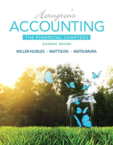 Horngren's Accounting, The Financial Chapters (11th Edition) – Standalone book