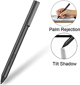 Aluminum Body Digital Pen for Dell Inspiron 13 7373 7378 7386 2-in-1 Acer Nitro 5 Spin Stylus Active Pen ; Acer Spin 5 VJZ13BX0211B Inspiron 15 7573 7579 7586 2-in-1; Sony VAIO Z Flip Black