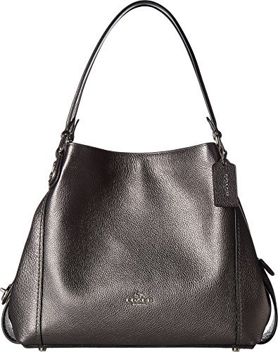 COACH Women's Metallic Leather Edie 31 Sv/Metallic Graphite One ()