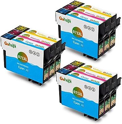 Gohepi Cartuchos de tinta compatibles con T0711 T0712 T0713 T0714 ...