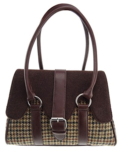 Ladies 27 Ladies Tweed Handbag LB1018 Scallop Flapover Harris Col Harris Bpw7RqdwP