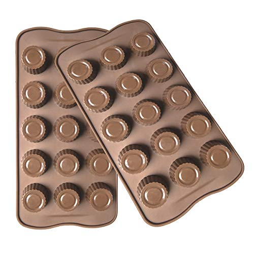 Silicone Chocolate Molds 2pcs Chocolate Cup Molds for Candy,Keto Fat Bombs & Mini Peanut Butter Cup