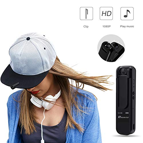 ehomful Mini Hidden Body Camera, 1080P HD Spy Camera Portable Clip Wearable Worn Pen Camera Video Recorder Mp3 Pen Secret Cam with Motion Detection and 180°Rotation Lens