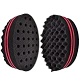New Magic Twist Hair Sponge, Afro Braid Style Dreadlock Coils Wave Hair Curl Sponge Brush (Double-side oval)1pcs