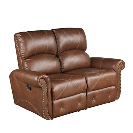 Groovy Amazon Com Xswy Pu Leather Reclining Loveseat Living Room Ncnpc Chair Design For Home Ncnpcorg