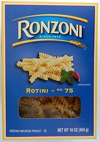 Ronzoni Rotini No. 75 Enriched Macaroni, 16 Oz. (Pack of 2)