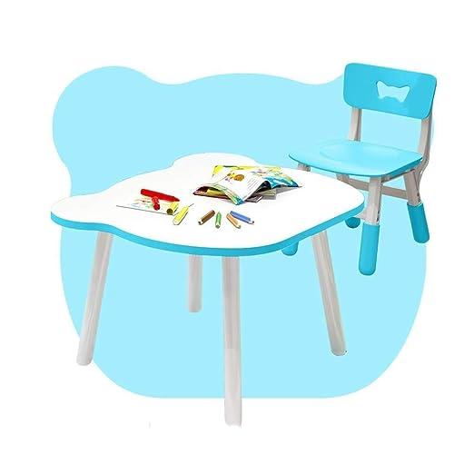 FENGFAN Mesa Auxiliar para el hogar y Juego de sillas Bebé ...