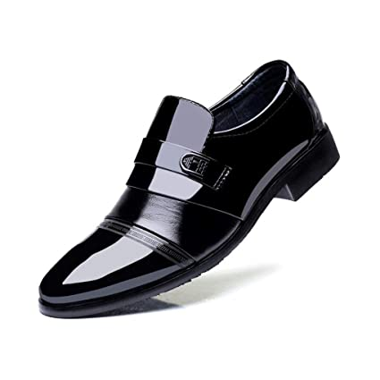1955621c87544 Amazon.com: Men's Shoes, Spring Fall Shiny Leather Shoes, Pointed ...