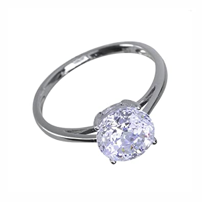 Ivy Gems 9ct Yellow Gold 1.25ct Finest 100 Cut Swiss Cubic Zirconia Round Trilogy Ring n23Fezim