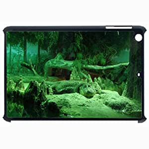 Customized Back Cover Case For iPad Air 5 Hardshell Case, Black Back Cover Design Crocodile Personalized Unique Case For iPad Air 5 wangjiang maoyi