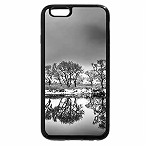 iPhone 6S Case, iPhone 6 Case (Black & White) - Lake at sunset...