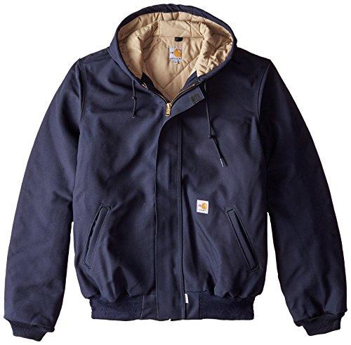 Carhartt Men's Big & Tall Flame Resistant Duck Active Jacket,Dark Navy,X-Large/Tall