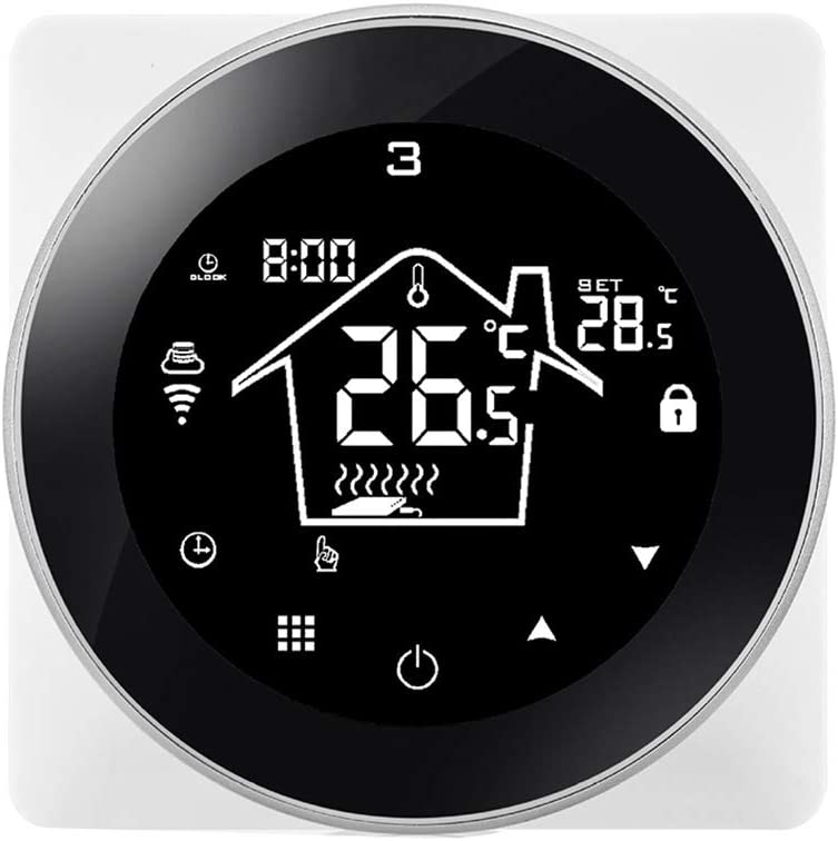 Fgyhty Inteligente termostato eléctrico Calefacción Caldera Mural del teléfono móvil WiFi Control del termostato