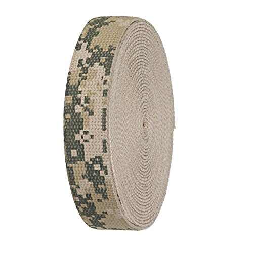 Printed Webbing Belt (Digital Camo Printed Heavy Canvas Webbing Roll 1.25