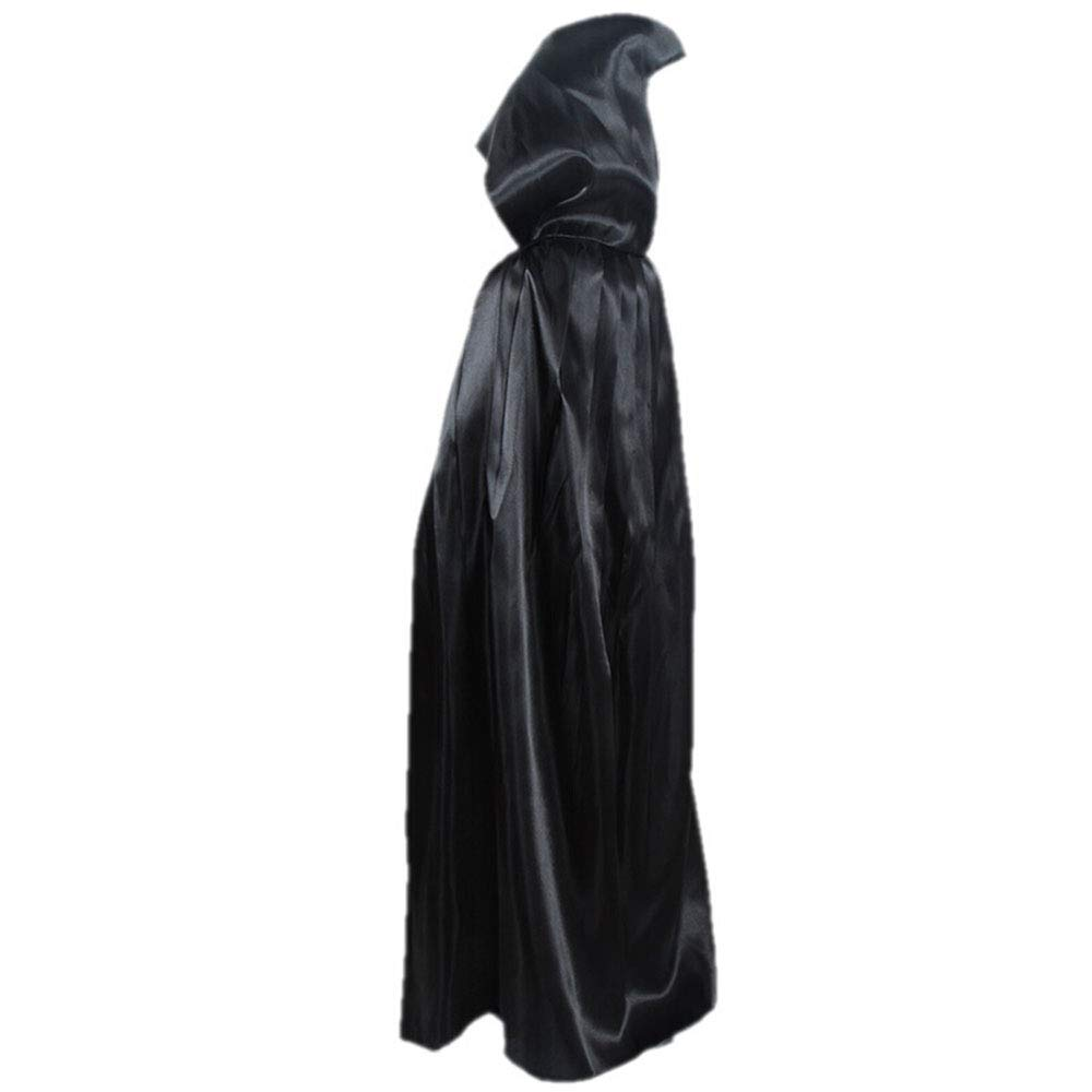 Wangr Disfraz de Halloween, de satén, de Ropa, para niños, Color Negro, 1 Metro