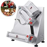 Mophorn Commercial Dough Roller Sheeter 11.8inch Electric Pizza Dough Roller Machine 370W Automatically Suitable for Noodle Pizza Bread and Pasta Maker Equipment