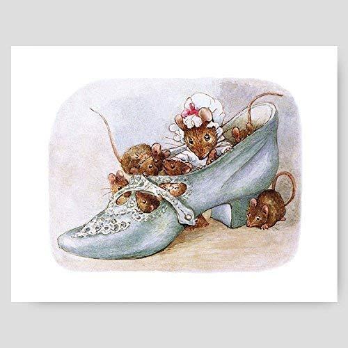 Beatrix Potter Print (Girls Nursery Art, Peter Rabbit Baby Wall Decor)