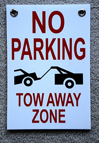 1-Pcs Outstanding Popular No Parking Tow Away Zone Sign Warning Decal Outdoor Yard Declare Size 8