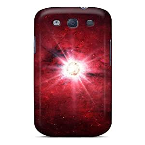 First-class Case Cover For Galaxy S3 Dual Protection Cover Red Atmosphere