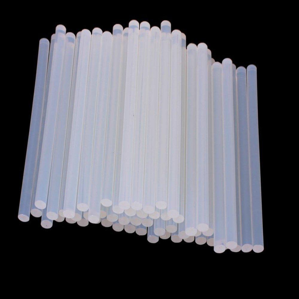 ICYANG 50pcs Hot Melt Glue Sticks, All Temperature All Purpose Stick Glue Sticks for Hot Glue Gun / XL-E20W Hot Melt Glue Gun, 0.27 Inch Diameter, 7.48 Inch Length