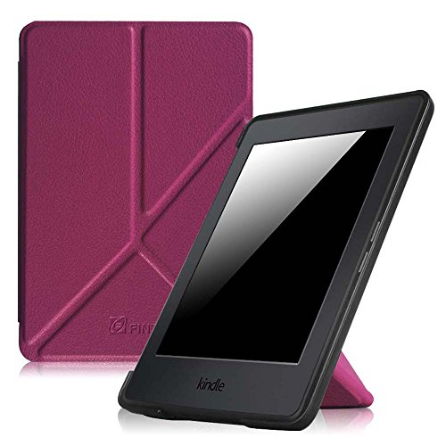 Fintie Origami Case for Kindle Paperwhite - Fits All Paperwhite Generations Prior to 2018 (Not Fit All-New Paperwhite 10th Gen), Purple