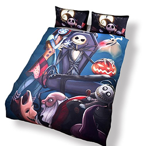 LightInTheBox Surprise Price Nightmare Before Christmas Bedding Gift Home Unique Design Duvet Cover & Pillowcases Set (Set of 3) (King)