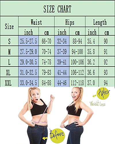 LAZAWG Women Slimming Sweat Ankle Long Pants Sauna Hot Thermo Burn Fat Yoga Legging Body Shaper for Weight Loss