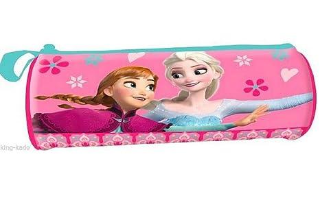 S1/estuche redondo, Elsa y Anna (21 x 7 cm niña - 21 x 7 cm ...