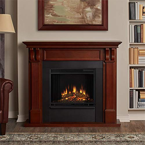 Real Flame 7100E-M 7100E Ashley Electric Fireplace, Medium, Mahogany
