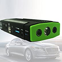 40000mAh Car Jump Starter HIGH CAPACITY Power Bank Battery USB Universal Travel Charger Mobile Devices Laptop Smartphones iPhone Android Jump Start Vehicle Emergency SOS Flashlight Auto Huge Capacity > 30000mAh & 38000mAh Batteries