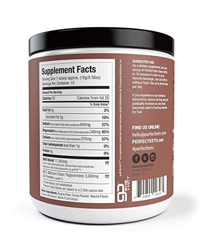 Perfect Keto Chocolate Exogenous Ketones: Base BHB Salts Supplement. Ketones for Ketogenic Diet ...