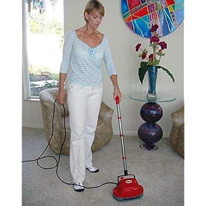 Mini Floor Scrubber Machine Buffers Hardwood Tile Carpet Marble Cleaner Polisher