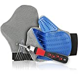 【Clearance sales】Pet Grooming Glove Brush – Deshedding & Massaging Tool - Hair & Fur Remover Mitt For Long & Short Hair Pets like Dog Cat Horse -Safe & Gentle