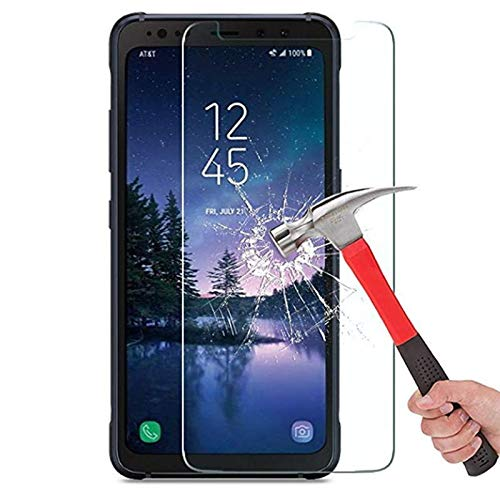 for Samsung Galaxy S8 Active Tempered Glass Screen Protector, Anti-Scratch, Anti-Fingerprint, Bubble Free,High Clear Screen Tempered Glass for Samsung S8 Actie [2-Pack]