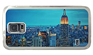 Hipster Samsung Galaxy S5 Case slim cases new york empire state PC Transparent for Samsung S5