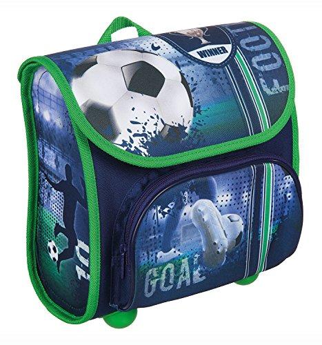 Scooli Vorschulranzen Football Cup, ca. 23 x 21 x 11 cm Kinder-Rucksack, 4,5 Liter, Blau