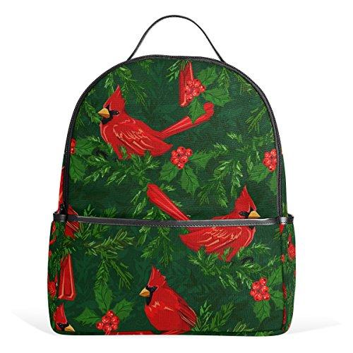 dinal Birds Laptop Backpack Casual Shoulder Daypack for Student School Bag Handbag - Lightweight (Cardinal Daypack)