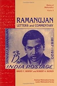 srinivasa ramanujan books list of books by author srinivasa  ramanujan letters and commentary history of mathematics vol 9