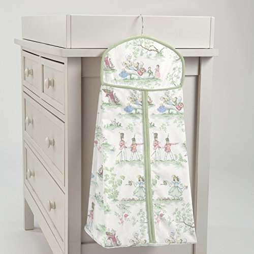 Carousel Designs Nursery Rhyme Toile Sage Diaper Stacker