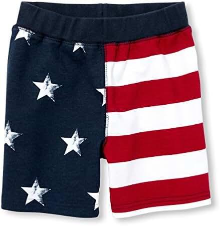 The Children's Place Toddler Boys' Li'l Guy's USA Flag Shorts